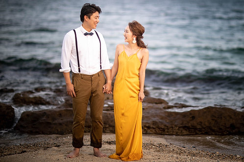 maison -yellow strap dress-