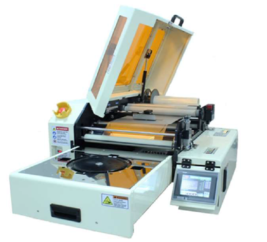 ALT=''Pre cut tape dicing tape and DAF tape mounter""