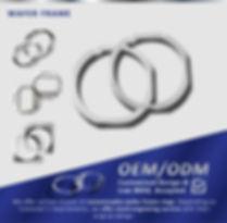 "ALT=''Disco wafer ring customized metal wafer frame"""