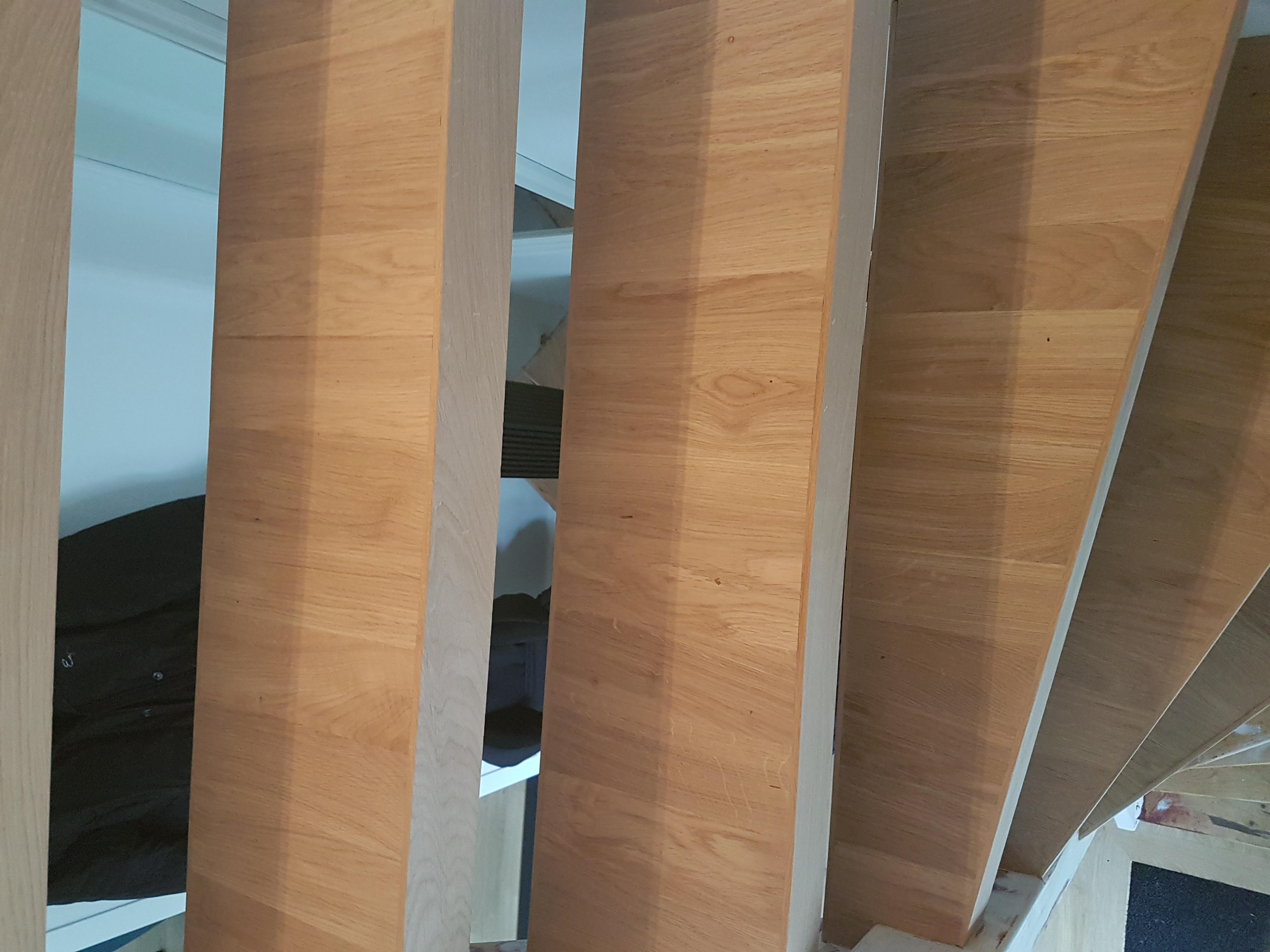 trap met eiken parket afgewerkt