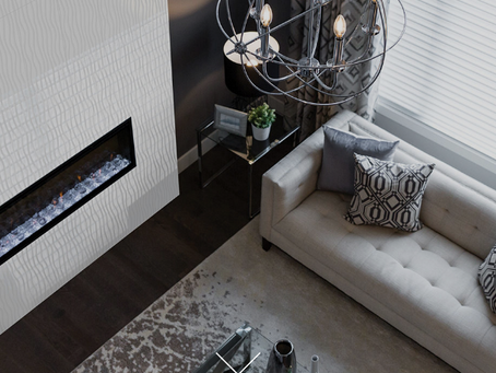 Spice Up Your Fireplace With These Three-Dimensional Tiles