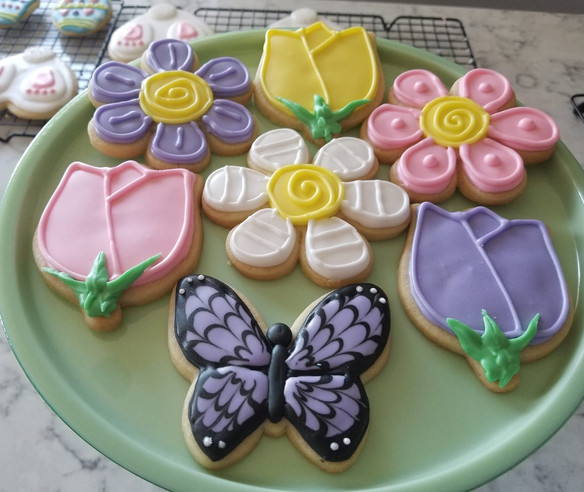 Spring Iced Butter Cookies