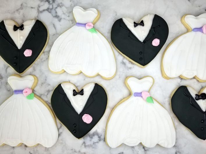 Bride & Groom Cookie Set
