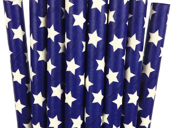 Navy and White Stars