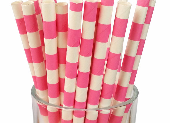 Pink and White Sailor Stripe