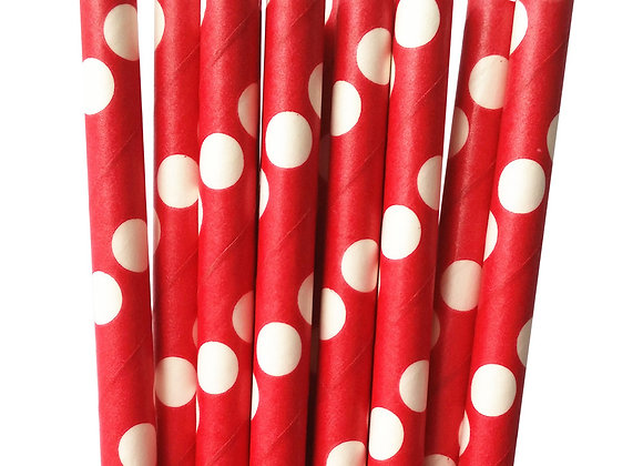 Red with White Polka Dots