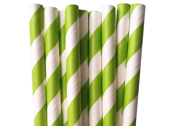 Kelly Green and White Striped