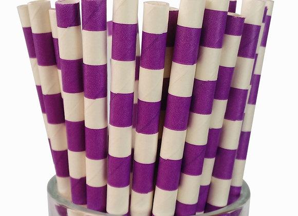 Purple and White Sailor Stripe