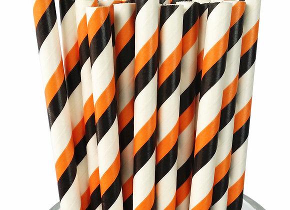 Black - Orange - White Striped - 25 Pack