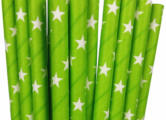 Kelly Green and White Stars