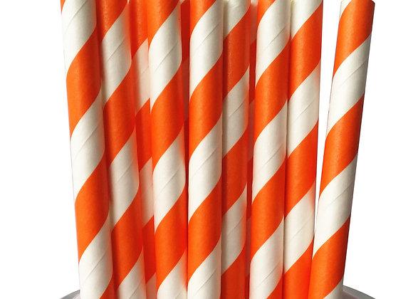 Orange and White Striped