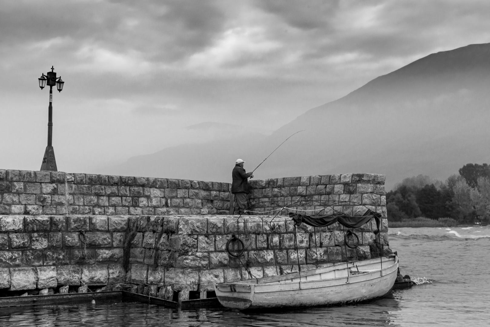 Fishing in Lake Ohrid