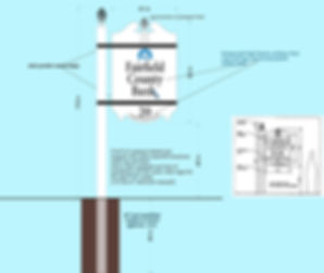 PROPOSED SIGN MEASURED DRAWING