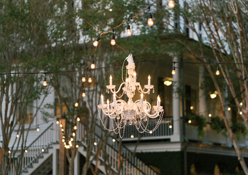 Double Tiered Crystal Chandelier