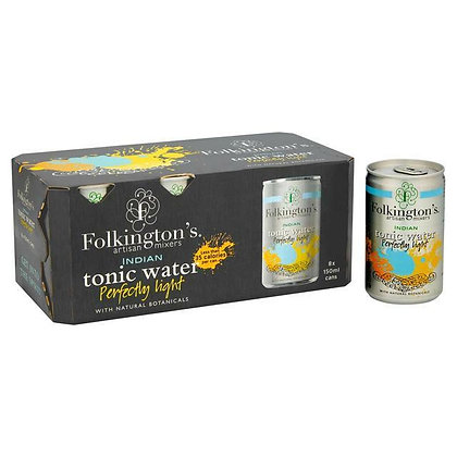Folkington's Light Indian Tonic Water (8 cans)