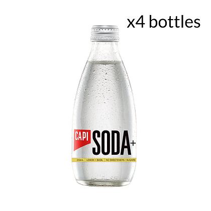 Capi Lemon and Basil Soda x4 (250ml)