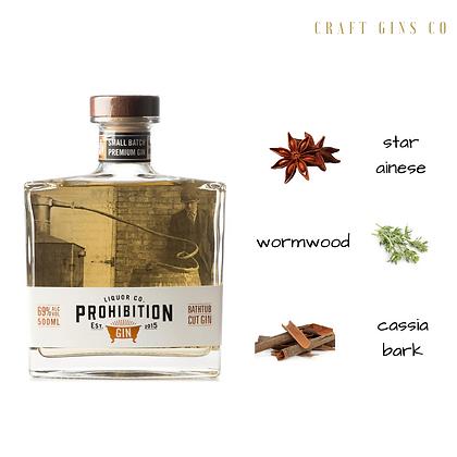 Prohibition Bathtub Cut Gin (69% ABV)
