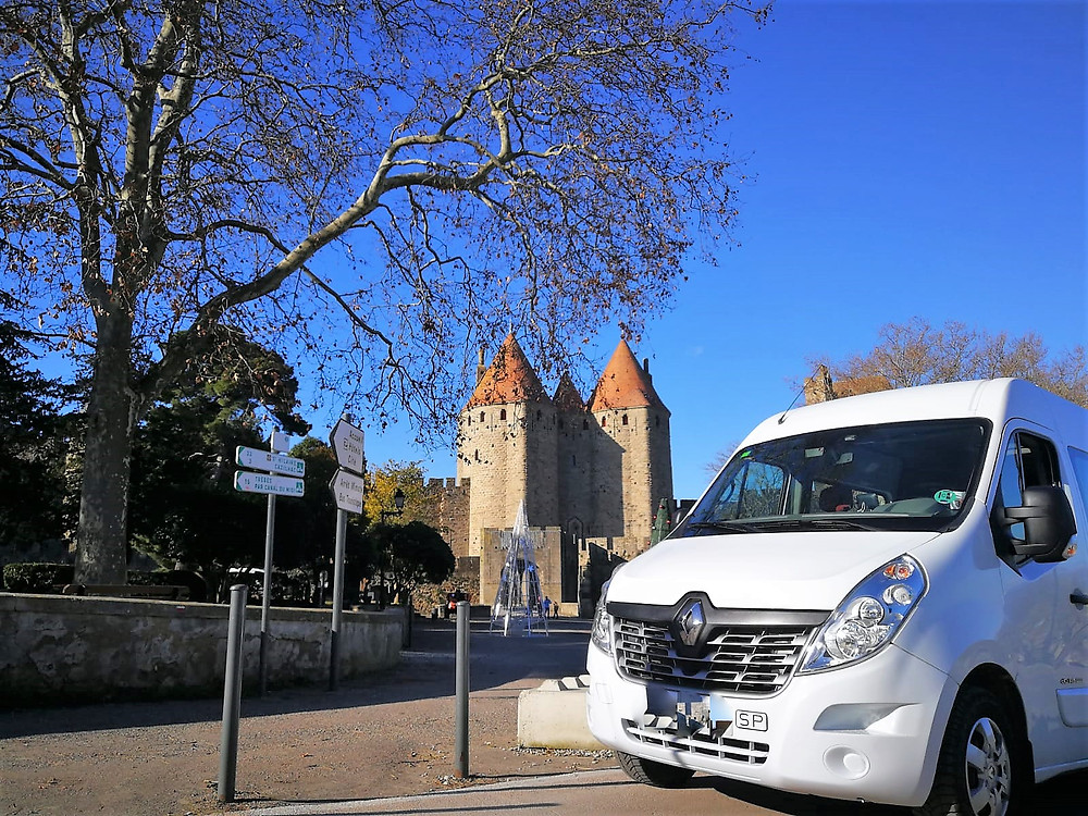 10 passengers to Carcassone from Calella. This is a AMAZING Place in France #enjoyit!