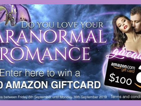 Paranormal Romance Giveaway – Enter to Win a $100 Amazon Gift Card!