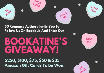 Bookatine's BookBub Giveaway - Enter to win $250, $100, $75, $50 & $25 Amazon gift cards!