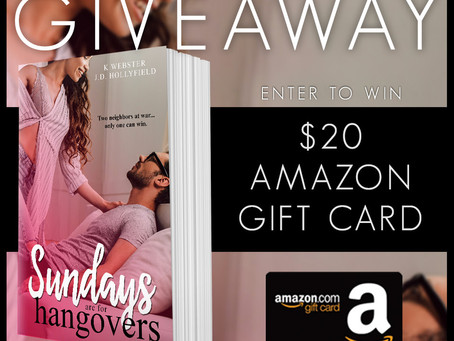 Celebrate K Webster and J.D. Hollyfield's new book release and WIN a $20 Amazon Gift Card