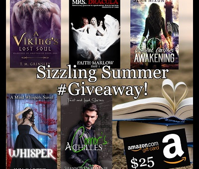 Sizzling Summer Giveaway – Enter to Win a $25 Amazon Gift Card + 5 Books!