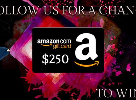 Book Throne's Social Follow Giveaway – Enter to Win a $250 Amazon Gift Card!