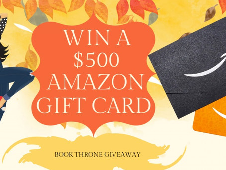 Book Throne Giveaway – Enter to Win a $500 Amazon Gift Card!