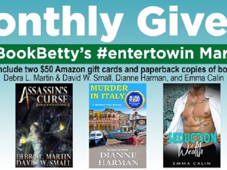eBookBetty's Monthly Giveaway – Enter to Win one of two $50 Amazon Gift Card!