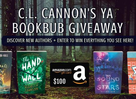 C.L. Cannon's YA BookBub Giveaway – Enter to Win a $100 Amazon Gift Card + Books!