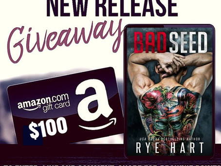 Celebrate Rye Hart's new book release and win a $100 Amazon Gift Card – Contest ends June 30 2018