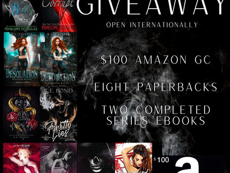 Book Lovers Instagram Giveaway – Enter to Win a $100 Amazon Gift Card and 8 Paperbacks!