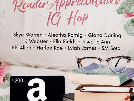 Reader Appreciation IG Hop – Enter to Win a $200 Amazon or iTunes Gift Card!