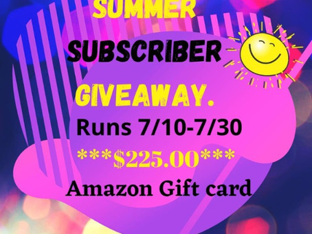 Summer Subscriber Giveaway – Enter to Win a $225 Amazon Gift Card!