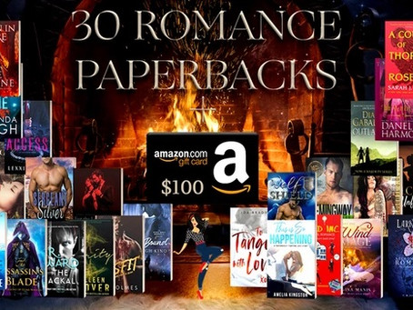 Book Throne Romance Giveaway – Enter to Win a $100 Amazon Gift Card and 30 Romance Paperbacks!