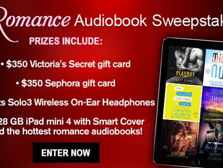 Romance Audio Giveaway - Enter to Win a $350 Victoria's Secret GC, $350 Sephora GC, iPad mini + !