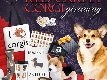 Red Carpet Corgi Giveaway – Enter to Win a Corgi inspired prize pack and $25 Amazon Gift Card!