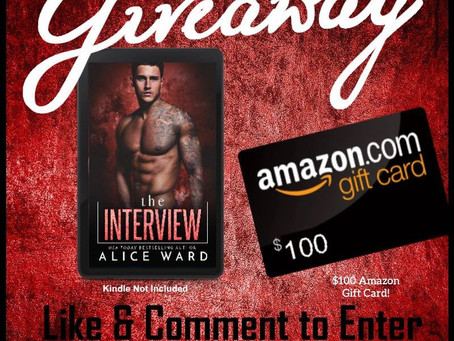 Celebrate Alice Ward's new book release and win a $100 Amazon Gift Card