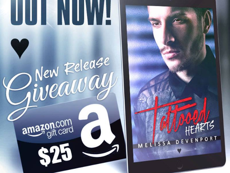 Celebrate Melissa Devenport's new book release and Win a $25 Amazon gift card