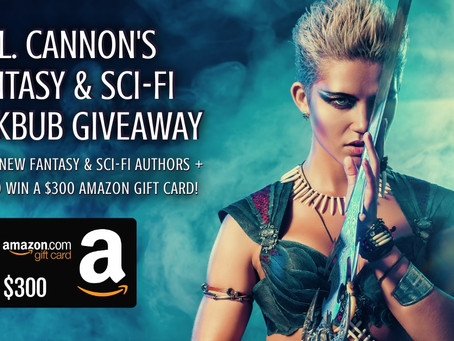 C.L. Cannon's Spring BookBub Giveaway - Enter to Win a $300 Amazon Gift Card!