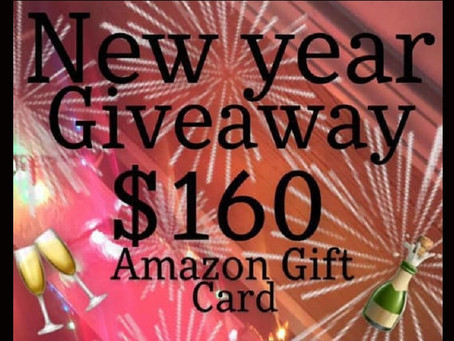 New Year Giveaway – Enter to Win a $160 Amazon Gift Card!