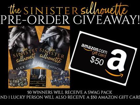 Pre-order Alex Grayson's new book The Sinister Silhouette and Win a $50 Amazon Gift CaPre-order Alrd