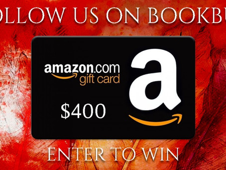 Bookbub Follow Giveaway – Enter to Win a $400 Amazon Gift Card!