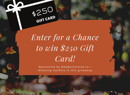 Amazing Authors Giveaway – Enter to Win a $250 Visa Gift Card!