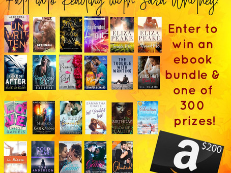 Fall Into Reading Giveaway – Enter to Win a $200 Amazon GC and 300 Assorted Paperback & Ebook!