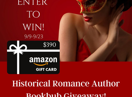 Historical Romance BookBub Giveaway – Enter to Win a $390 Amazon Gift Card!