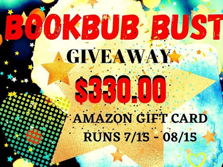 Bookbub Bust Giveaway – Enter to Win a $330 Amazon Gift Card!