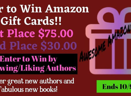 Discover New Authors Giveaway – Enter to Win a $75 Amazon Gift Card!
