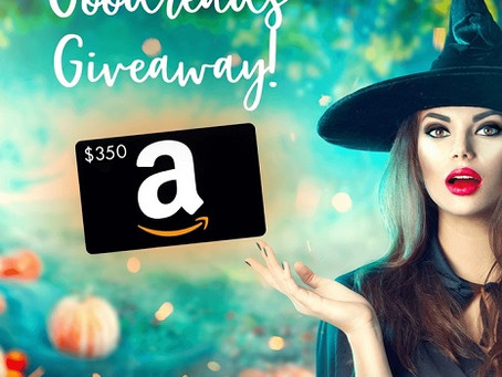Halloween Goodreads Giveaway – Enter to Win a $350 Amazon Gift Card!