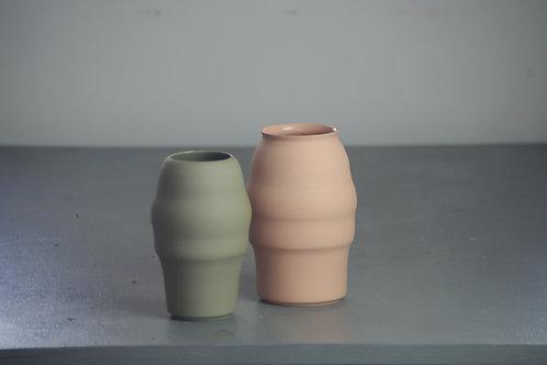Grey/Pink Vase set
